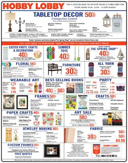 Hobby Lobby deals in the Mansfield OH weekly ad