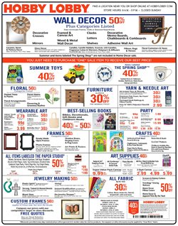 Hobby Lobby deals in the Chillicothe OH weekly ad