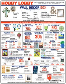 Home & Furniture deals in the Hobby Lobby weekly ad in Erie PA