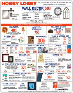 Hobby Lobby deals in the Cincinnati OH weekly ad