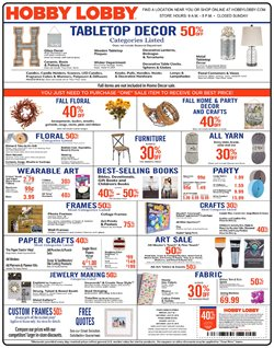 Hobby Lobby deals in the Huntington Station NY weekly ad