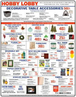 Home & Furniture deals in the Hobby Lobby weekly ad in Van Nuys CA