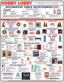 Hobby Lobby deals in the Kansas City MO weekly ad