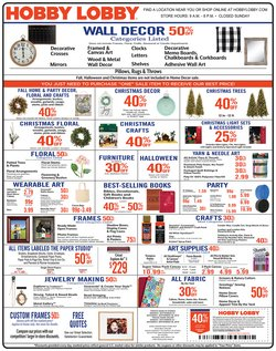 Hobby Lobby deals in the Columbus OH weekly ad