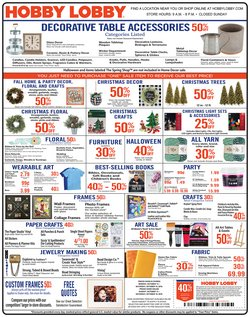 Hobby Lobby deals in the Florence SC weekly ad