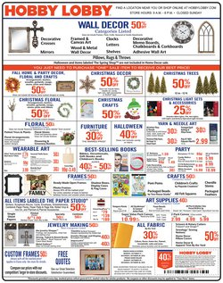 Home & Furniture deals in the Hobby Lobby weekly ad in Iowa City IA