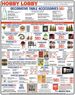 Home & Furniture deals in the Hobby Lobby weekly ad in Pleasanton CA