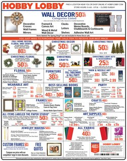 Home & Furniture deals in the Hobby Lobby weekly ad in Santa Ana CA