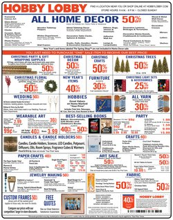 Home & Furniture deals in the Hobby Lobby weekly ad in West Palm Beach FL