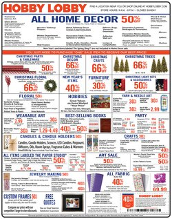 Home & Furniture deals in the Hobby Lobby weekly ad in Redmond WA