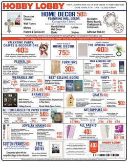 Home & Furniture deals in the Hobby Lobby weekly ad in Conway AR