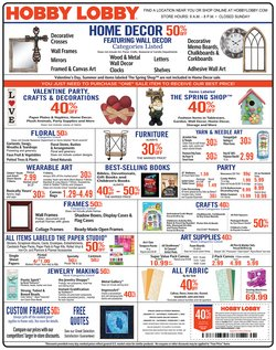 Home & Furniture deals in the Hobby Lobby weekly ad in Commack NY