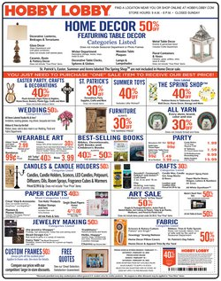 Home & Furniture offers in the Hobby Lobby catalogue in San Bernardino CA ( Expires today )