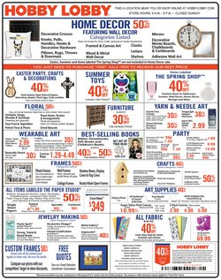 Home & Furniture offers in the Hobby Lobby catalogue in Vista CA ( Expires today )