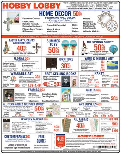 Hobby Lobby catalogue ( 1 day ago )