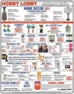 Home & Furniture offers in the Hobby Lobby catalogue in Bessemer AL ( 2 days ago )