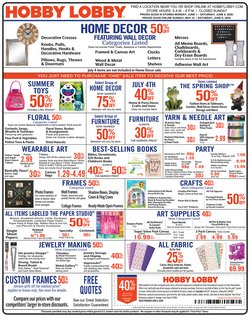 Home & Furniture offers in the Hobby Lobby catalogue in Savannah GA ( Expires today )