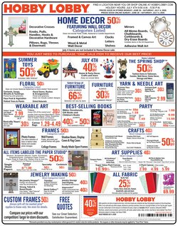 Home & Furniture offers in the Hobby Lobby catalogue in Jackson TN ( Expires tomorrow )