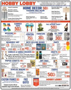 Home & Furniture offers in the Hobby Lobby catalogue in San Antonio TX ( 2 days ago )