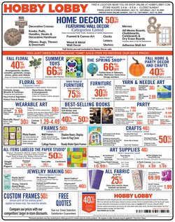 Hobby Lobby catalogue ( 2 days ago )