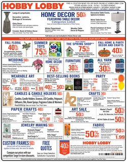 Home & Furniture offers in the Hobby Lobby catalogue in Rockford IL ( Expires today )