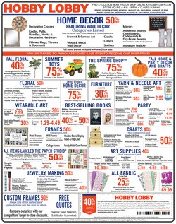 Home & Furniture offers in the Hobby Lobby catalogue in Midlothian VA ( 2 days ago )
