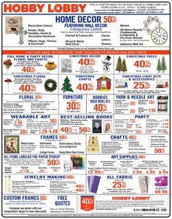 Home & Furniture offers in the Hobby Lobby catalogue in Anderson IN ( 1 day ago )