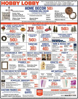 Home & Furniture offers in the Hobby Lobby catalogue in Los Angeles CA ( 1 day ago )