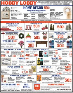 Home & Furniture offers in the Hobby Lobby catalogue in Milwaukee WI ( Expires today )