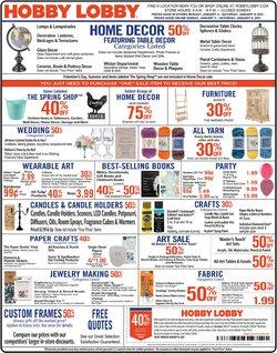 Hobby Lobby catalogue in Greenville SC ( Expired )