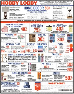 Home & Furniture offers in the Hobby Lobby catalogue in Boston MA ( Expires tomorrow )