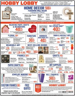 Home & Furniture offers in the Hobby Lobby catalogue in Knoxville TN ( 3 days left )
