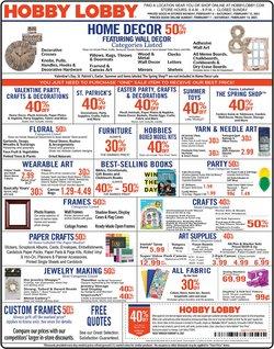 Hobby Lobby catalogue in Sterling VA ( Expired )