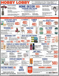 Hobby Lobby catalogue in Chicago IL ( Expired )