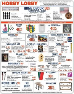 Home & Furniture offers in the Hobby Lobby catalogue in Jackson MS ( Expires today )