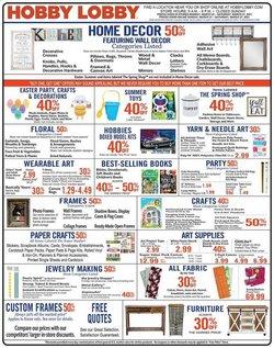 Hobby Lobby catalogue in Houston TX ( Expired )