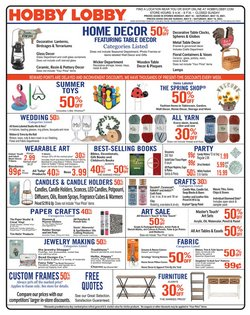 Home & Furniture deals in the Hobby Lobby catalog ( Published today)