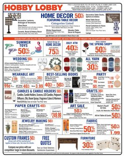 Home & Furniture deals in the Hobby Lobby catalog ( Expires today)