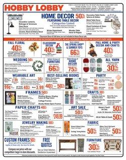 Hobby Lobby catalog ( Published today)