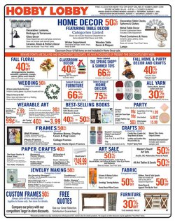 Home & Furniture deals in the Hobby Lobby catalog ( 3 days left)