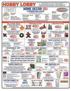 Home & Furniture deals in the Hobby Lobby catalog ( 2 days left)