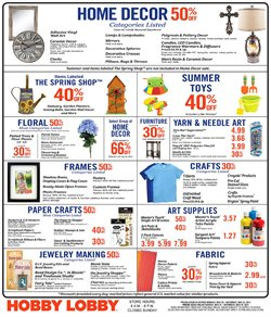 Hobby Lobby deals in the Houston TX weekly ad