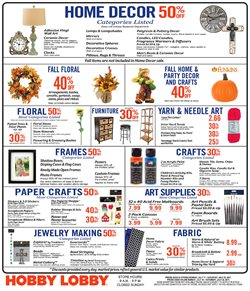 Sales deals in the Hobby Lobby weekly ad in Houston TX
