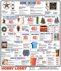 Home & Furniture deals in the Hobby Lobby weekly ad in Dallas TX