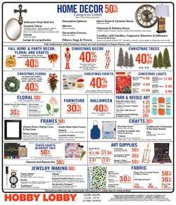 Home & Furniture deals in the Hobby Lobby weekly ad in Sterling VA