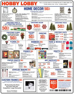 Home & Furniture deals in the Hobby Lobby weekly ad in Hot Springs National Park AR
