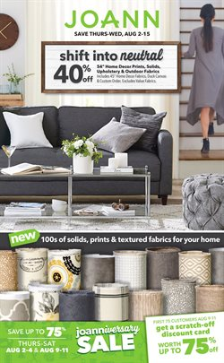 Jo-Ann deals in the Houston TX weekly ad