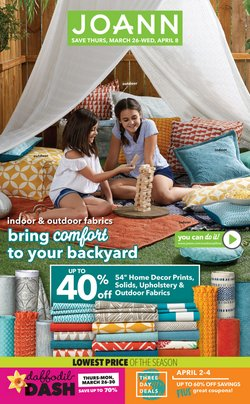 Gifts & Crafts offers in the Jo-Ann catalogue in Redlands CA ( Expires tomorrow )