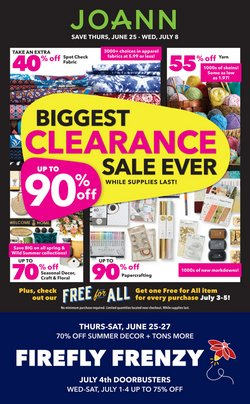 Gifts & Crafts offers in the Jo-Ann catalogue in Fresno CA ( 5 days left )