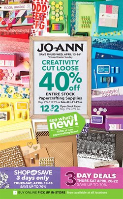 Gifts & Crafts deals in the Jo-Ann weekly ad in Miami FL